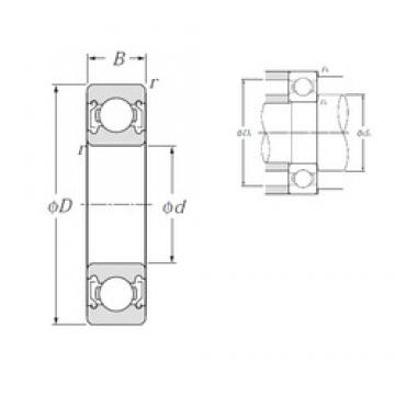 28 mm x 58 mm x 16 mm  NTN 62/28ZZ deep groove ball bearings