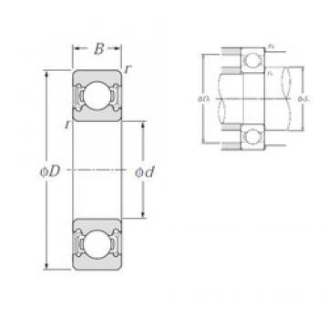 28 mm x 58 mm x 16 mm  NTN 62/28LLU deep groove ball bearings