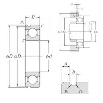 28 mm x 58 mm x 16 mm  NTN 62/28N deep groove ball bearings