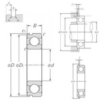 28 mm x 58 mm x 16 mm  NTN 62/28NR deep groove ball bearings