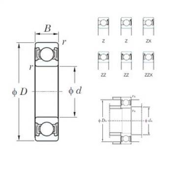 28 mm x 58 mm x 16 mm  KOYO 62/28ZZ deep groove ball bearings