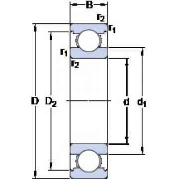 35 mm x 72 mm x 17 mm  SKF 6207 deep groove ball bearings