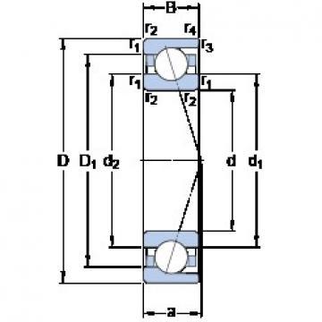 35 mm x 72 mm x 17 mm  SKF 7207 ACD/P4A angular contact ball bearings