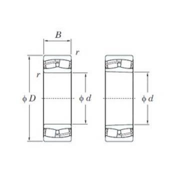 110 mm x 200 mm x 69,8 mm  KOYO 23222RH spherical roller bearings