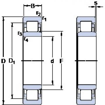 35 mm x 72 mm x 17 mm  SKF NU 207 ECM thrust ball bearings