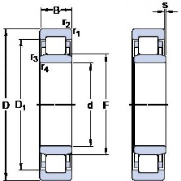 35 mm x 72 mm x 17 mm  SKF NU 207 ECP thrust ball bearings
