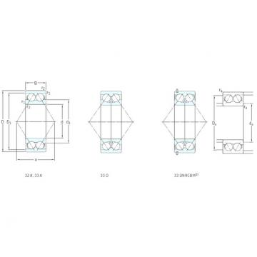 60 mm x 130 mm x 54 mm  SKF 3312A angular contact ball bearings