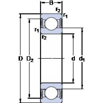 35 mm x 72 mm x 17 mm  SKF W 6207-2RS1 deep groove ball bearings