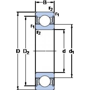 35 mm x 72 mm x 17 mm  SKF W 6207-2RZ deep groove ball bearings