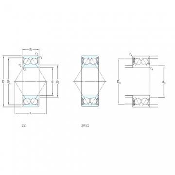 60 mm x 130 mm x 54 mm  SKF E2.3312A-2Z angular contact ball bearings