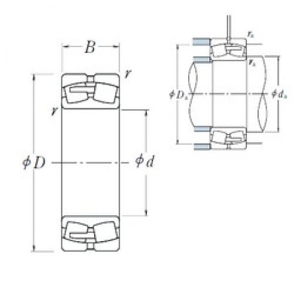 440 mm x 720 mm x 226 mm  NSK 23188CAE4 spherical roller bearings #1 image